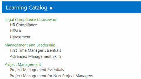 Personal Learning Catalog - ShareKnowledge