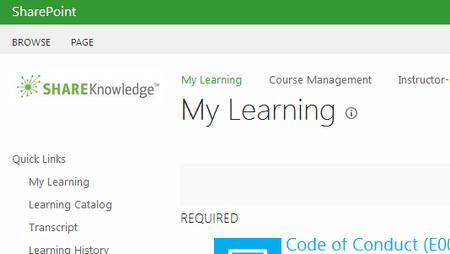Learner View - ShareKnowledge